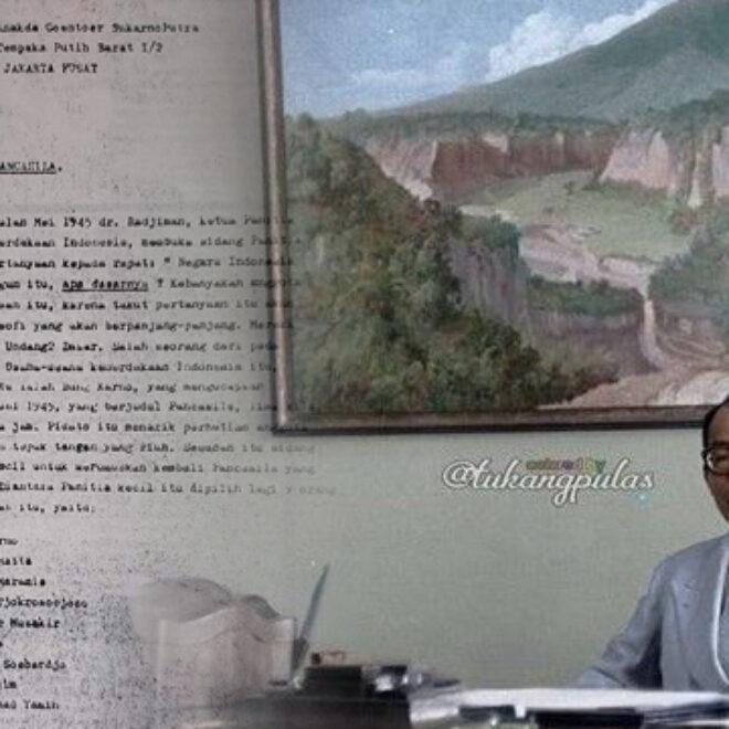 Salinan Surat Bung Hatta untuk Guntur Sukarnoputra mengenai Perjalanan Naskah Pancasila