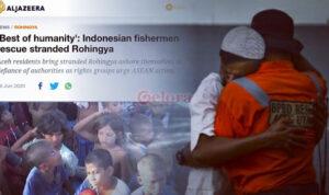 Selamatkan Pengungsi Rohingya yang Dilarang Aparat untuk Mendarat, Al Jazeera Puji Warga Aceh 'Best of Humanity'