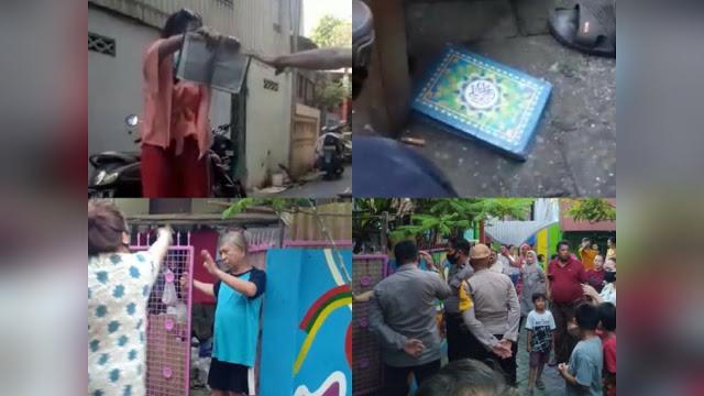 Video Viral Wanita Ngaku Yahudi Lempar Al Quran, Rumahnya Digeruduk Warga