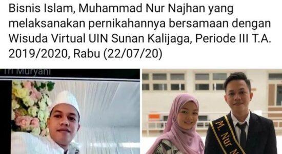Viral, Gambar Mahasiswa Turut Wisuda Online Sembari Duduk di Pelaminan, Ini Ceritanya