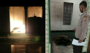 Sajadah di Masjid ini Dibakar Orang, Polisi Sebut Pelakunya Orang Gila