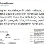 YLBHI Kritik Keras Telegram Kapolri Soal Larangan Demo Tolak Omnibus Law