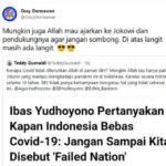 Kenapa Covid Tidak di Zaman SBY? Demokrat: Mungkin Allah Mau Ajarkan Jokowi dan Pendukungnya Agar Jangan Sombong