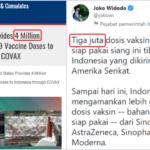 AS Klaim Donasi 4 Juta Dosis Vaksin Moderna ke RI, Politisi PD: Menurut Pak Jokowi Hanya 3 Juta