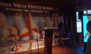 Acara HUT Partai Demokrat Kubu Moeldoko Dibubarkan Aparat Polisi