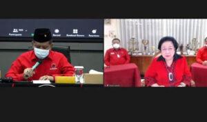 Megawati Muncul Virtual di Kegiatan PDIP, Hasto: Kita Bisa Lihat Ibu Mega Tersenyum Manis Cantik