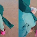 VIDEO Viral Wanita Berjilbab Rutin Tabur Bunga di Laut untuk Teman Malam Jumat, Siapa?