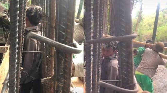 VIDEO Viral Pria Terhimpit Kawat Bangunan, Publik: The Real 'Tumbal Proyek'