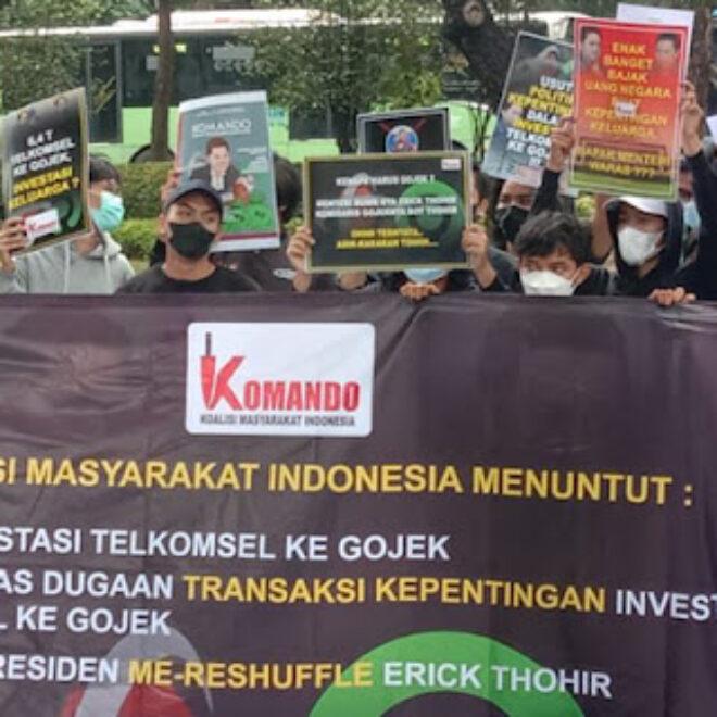 Koalisi Masyarakat Indonesia Geruduk Istana Negara, Persoalkan Investasi Rp2,1 Triliun Telkomsel ke Gojek