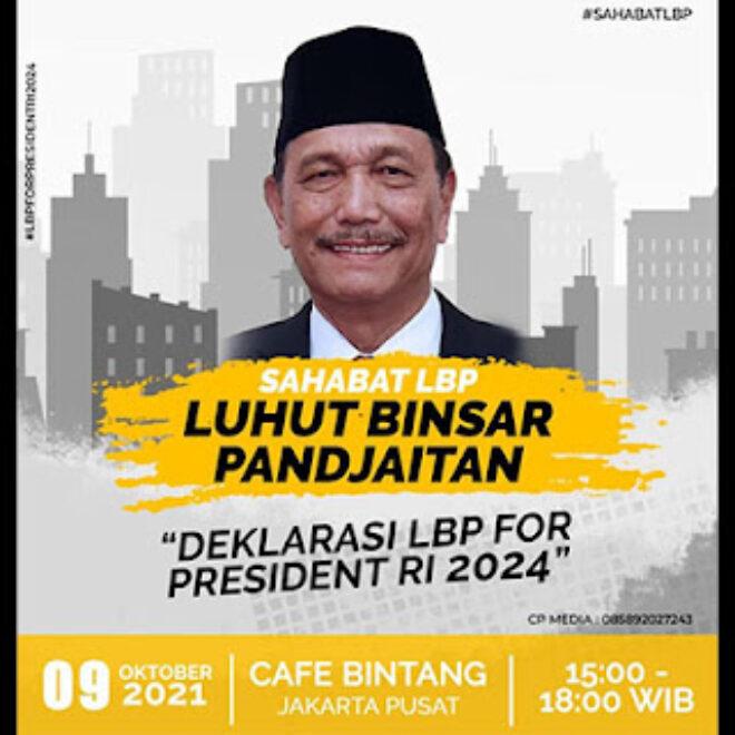 Dorongan Luhut Jadi Capres RI 2024 Bagai Mimpi di Siang Bolong?